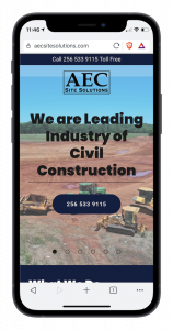 AEC Site Solutions, LLC. mobile view mockup