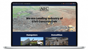 AEC Site Solutions, LLC. web browser view mockup