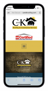 C and K Roofing & Construction Services, LLC. mobile view mockup