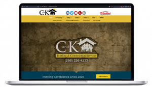 C and K Roofing & Construction Services, LLC. browser view mockup
